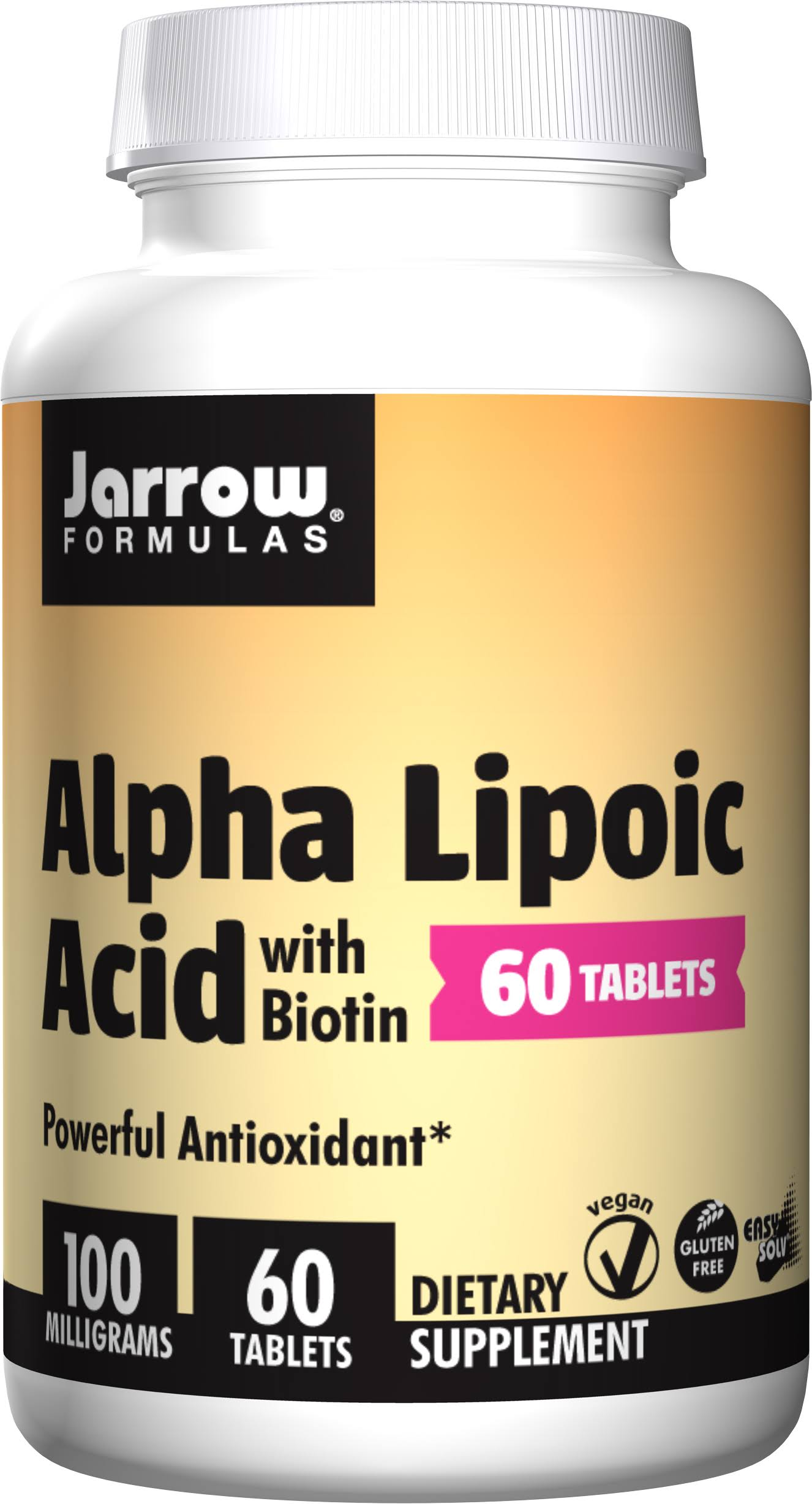 Jarrow Formulas Alpha Lipoic Acid With Biotin Supplement - 100mg, 60 Easy-Solv Tablets