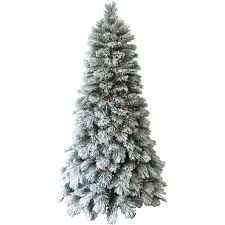 Vickerman Flocked Slim Christmas Tree by Holiday Time Artificial Christmas Trees Pre Lit 7 5 U0027 Flocked