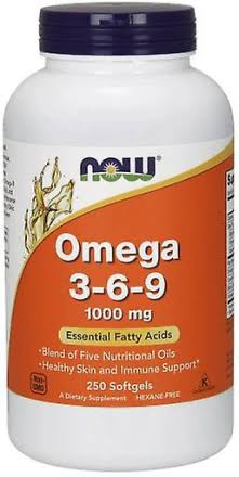 Now Omega 3-6-9, 1000 mg, Capsules - 250 count
