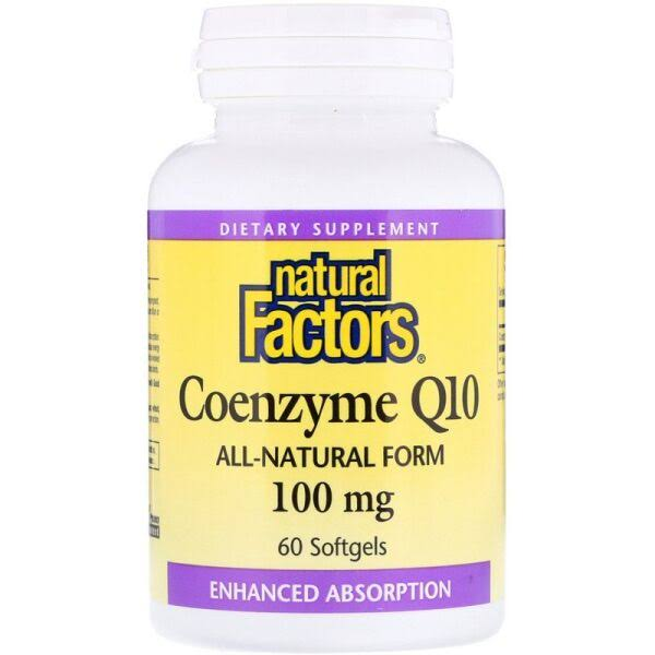 Natural Factors Coenzyme Q10 Supplement - 100mg, 60 Softgels
