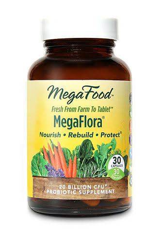 MegaFood MegaFlora® Supplement - 20 Billion CFU, 30 Capsules