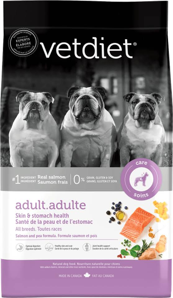 VetDiet Adult Dog Skin & Stomach Health Salmon and Pea Formula 6 lbs