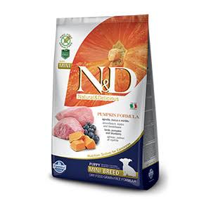 N&D Pumpkin Grain Free Puppy Mini Dog Food - Lamb & Blueberry, 7kg