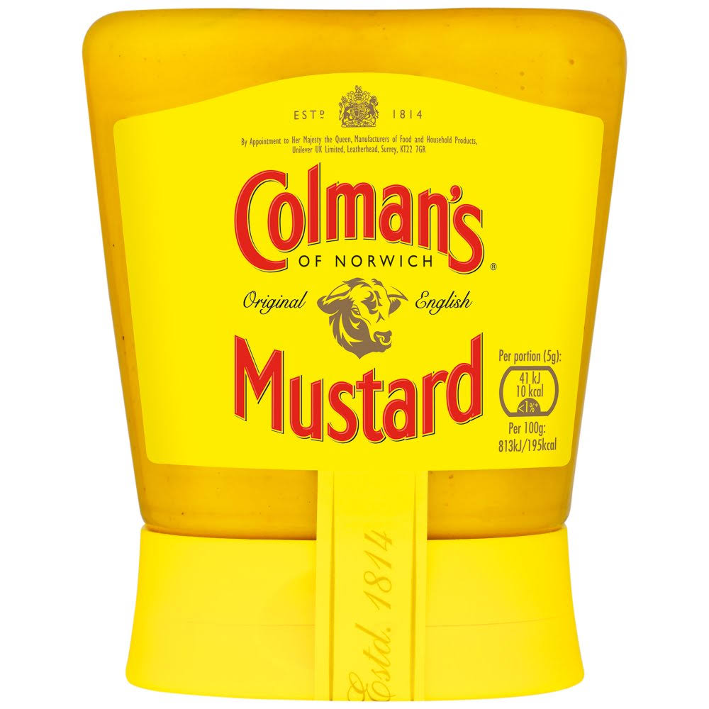 Colman's Original English Squeezy Mustard - 150g