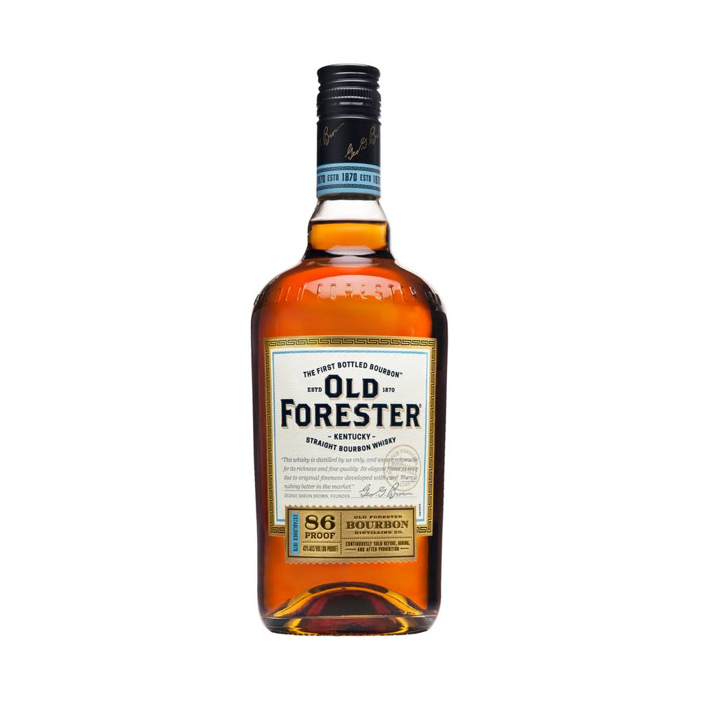 Old Forester 86 Proof Bourbon, Kentucky Straight Bourbon Whiskey - 750 ml