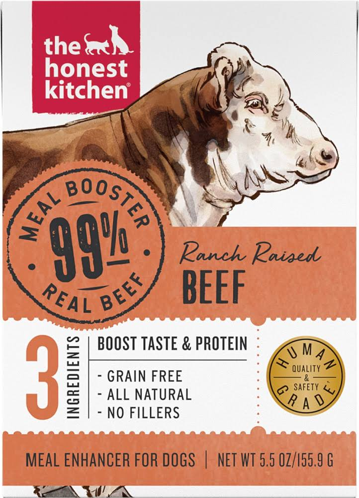 The Honest Kitchen Meal Booster 99% Beef Dog Food Topper - 5.5 oz, Case of 12