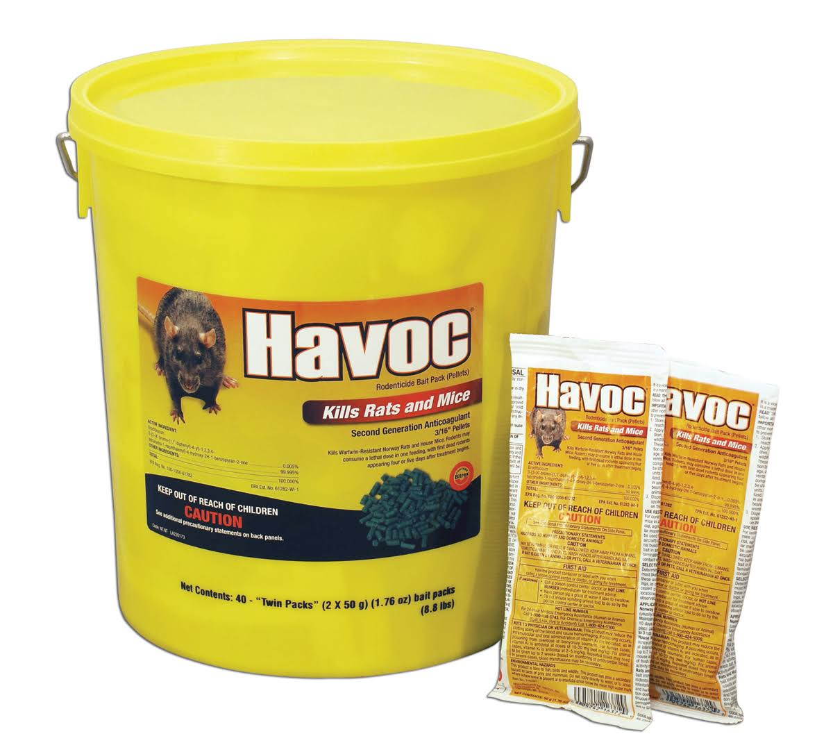Neogen Rodenticide Havoc Mouse and Rat Killer - 40ct