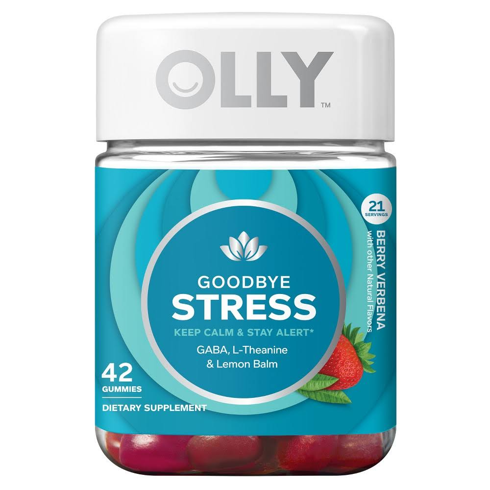 Olly Goodbye Stress Dietary Supplement Gummies - Berry Verbena, 42pcs