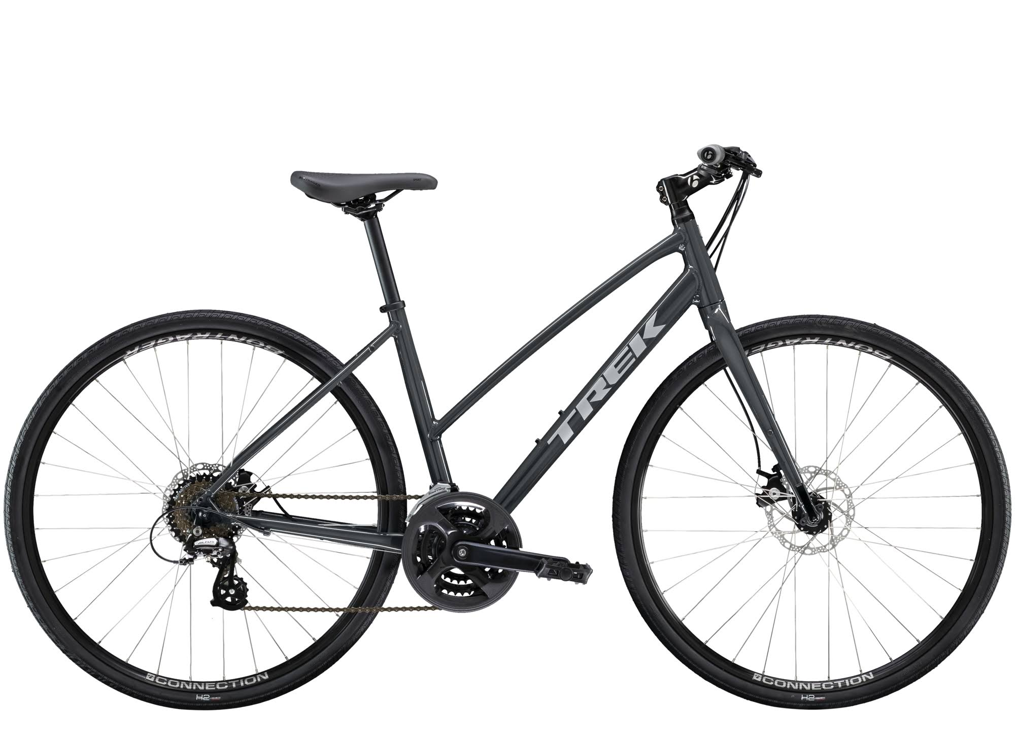 Trek FX 1 Stagger Disc Road Bike - Solid Charcoal