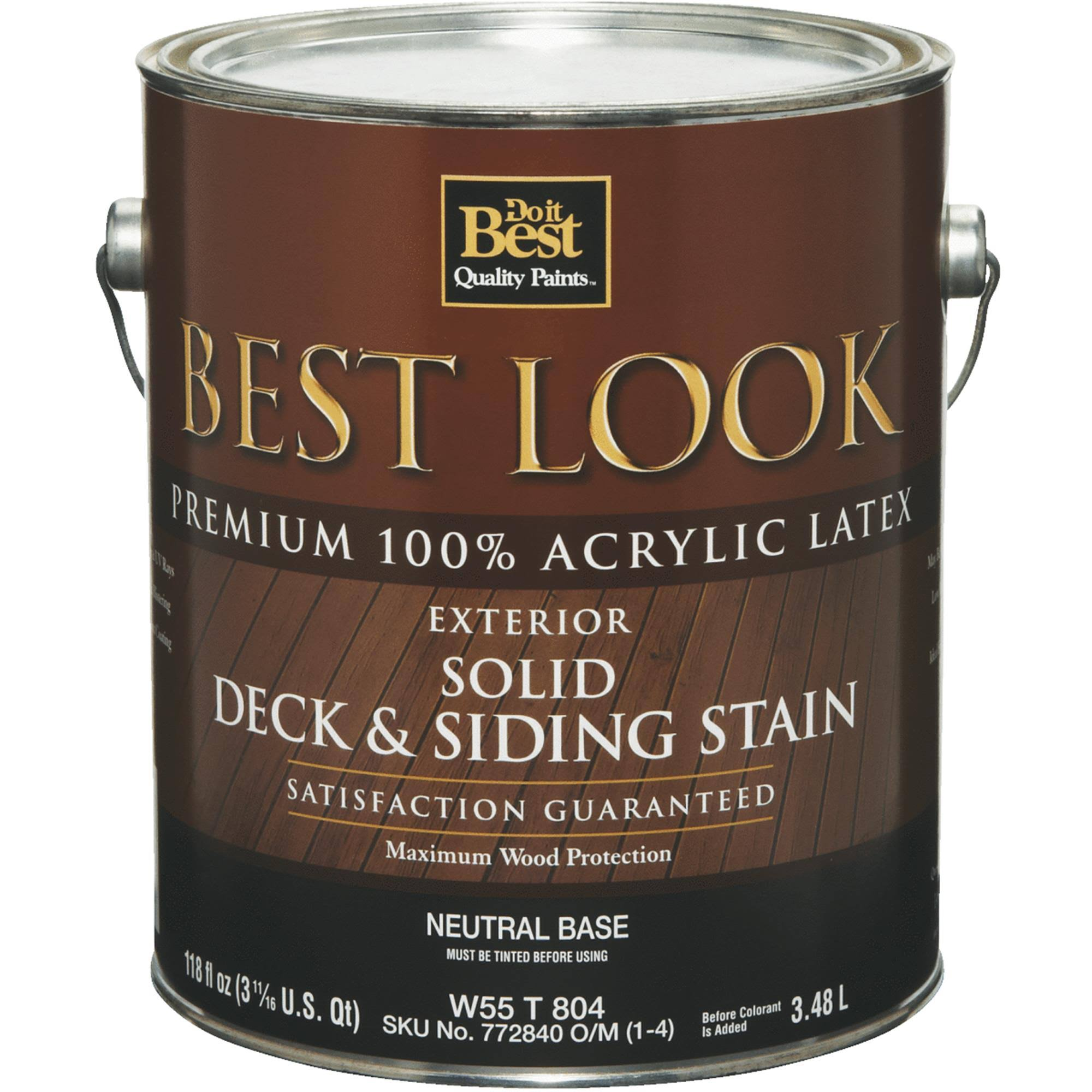 Do It Best Exterior Latex Deck and Siding Exterior Stain - Solid Color