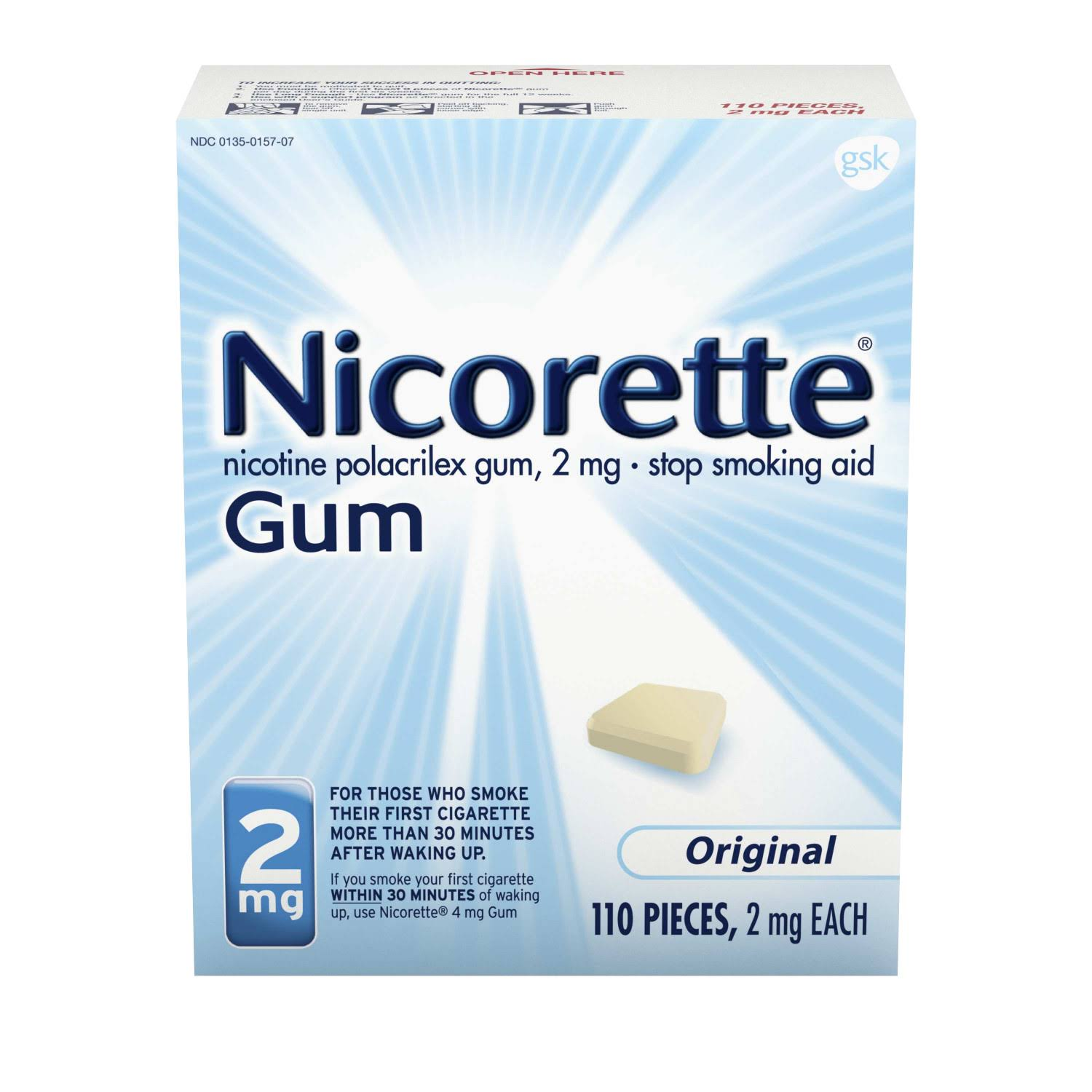 Nicorette Stop Smoking Gum Original - 2mg