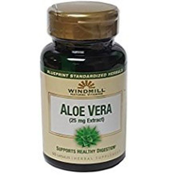 Windmill Natural Vitamins Aloe Vera 25 mg Herbal Supplement, 60 EA
