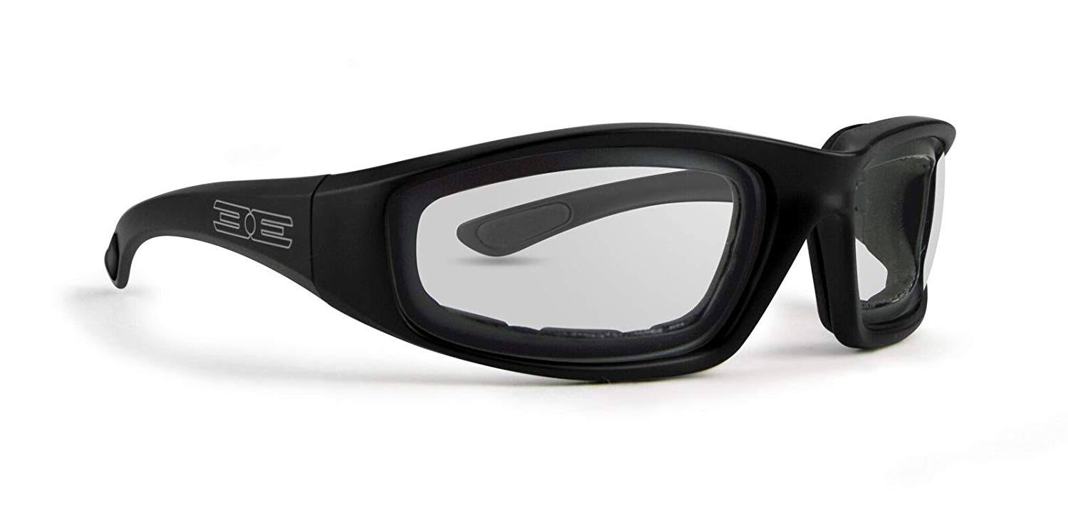 Epoch Eyewear Lacrosse Foam Photochromic Padded Motorcycle Black Sunglasses