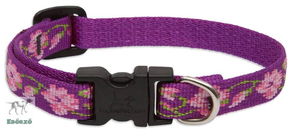 "LupinePet Originals Adjustable Collar for Small Dogs - 1/2"" x 10-16"", Rose Garden"