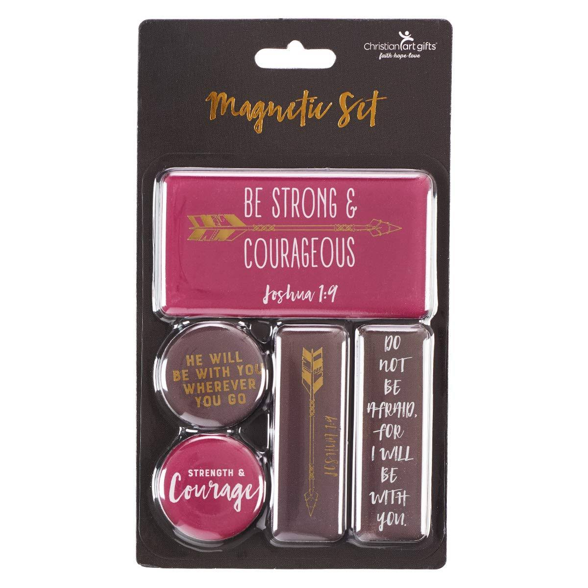 Magnet Set Be Strong & Courageous