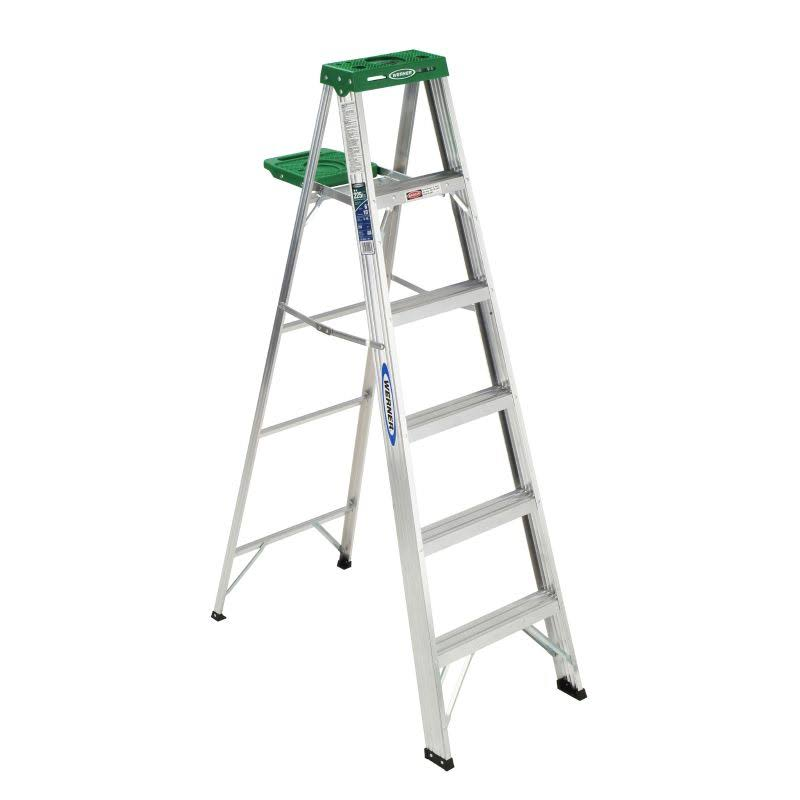 Werner Type II Aluminum Step Ladder - 6ft
