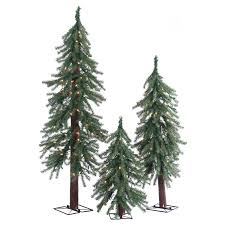Vickerman Flocked Slim Christmas Tree by Have To Have It 2 3 U0026 4 Ft Alpine Pre Lit Slim Christmas Tree