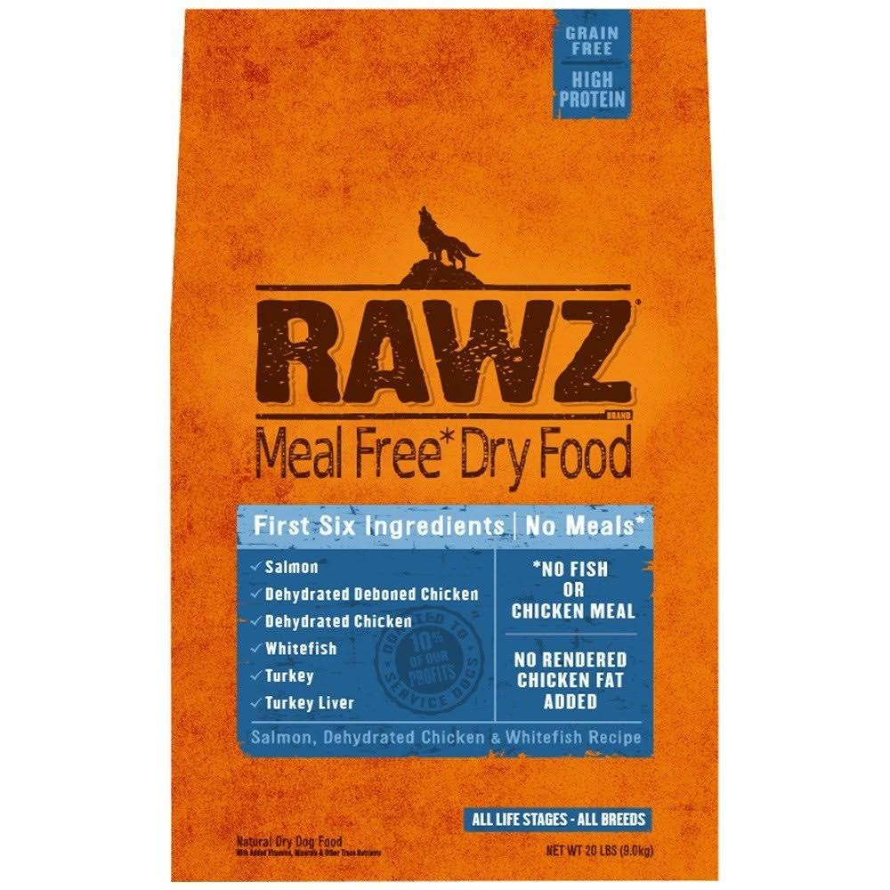 Rawz Meal Free Salmon Dehydrated Chicken Whitefish Dry Dog Food - 20lb