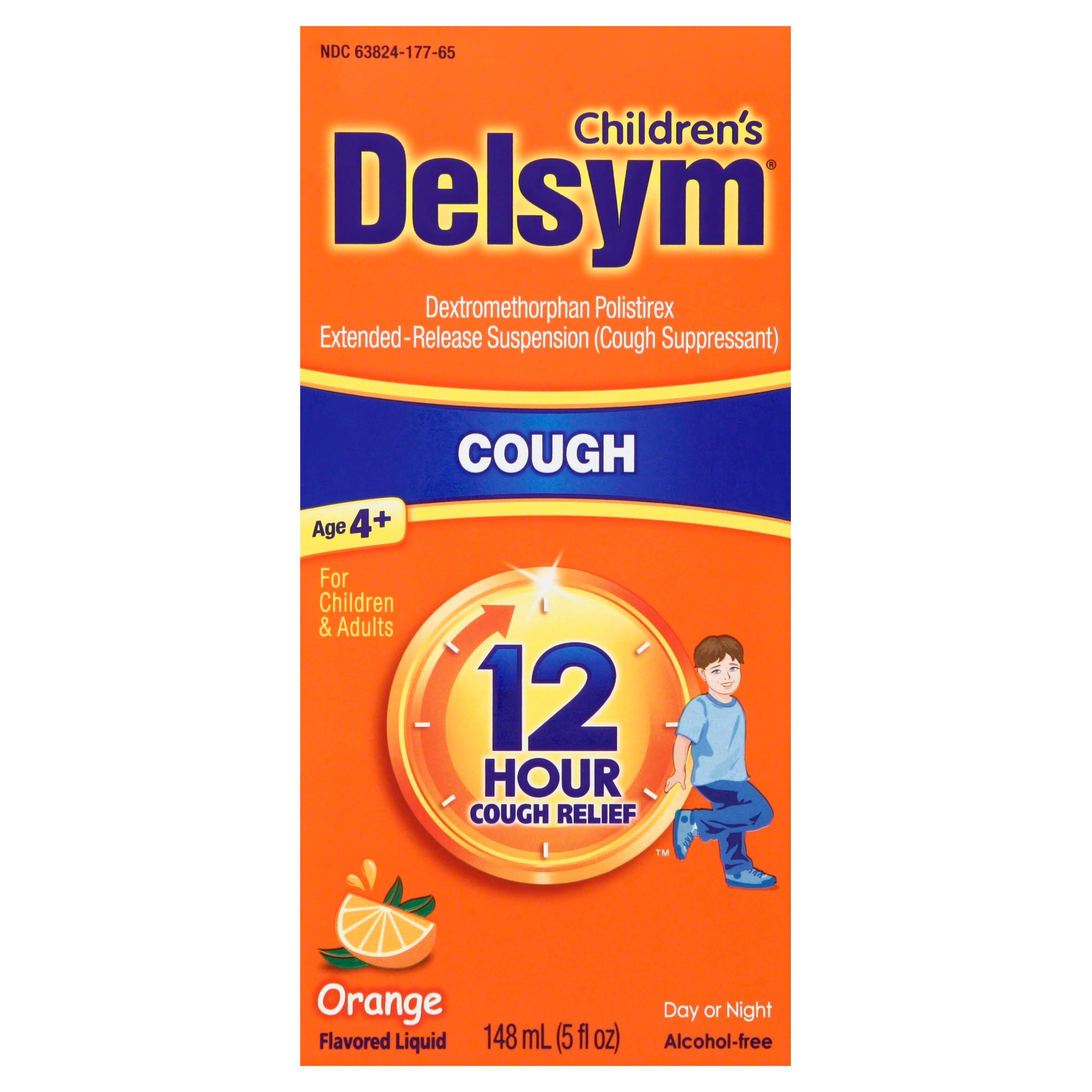 Delsym Children's Cough Suppressant - Orange, 5oz