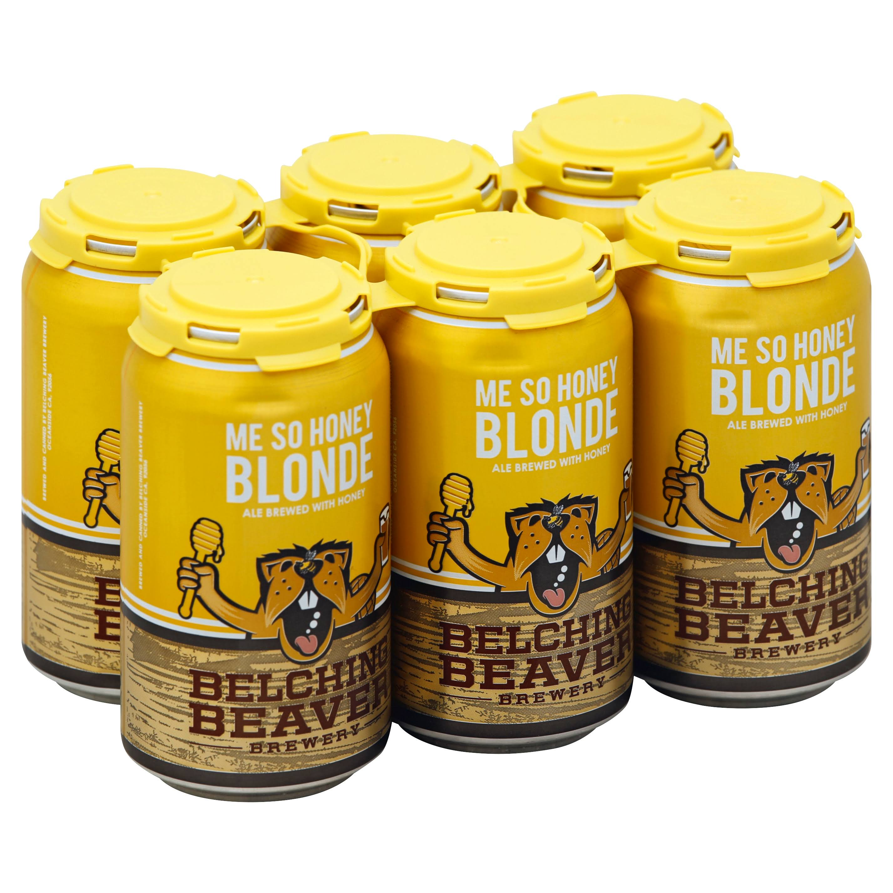 Belching Beaver Honey Wheat Ale - 6 pack, 12 fl oz cans