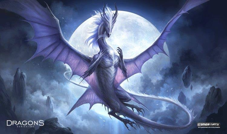 Gamermats - White Dragon of The Night by sandara