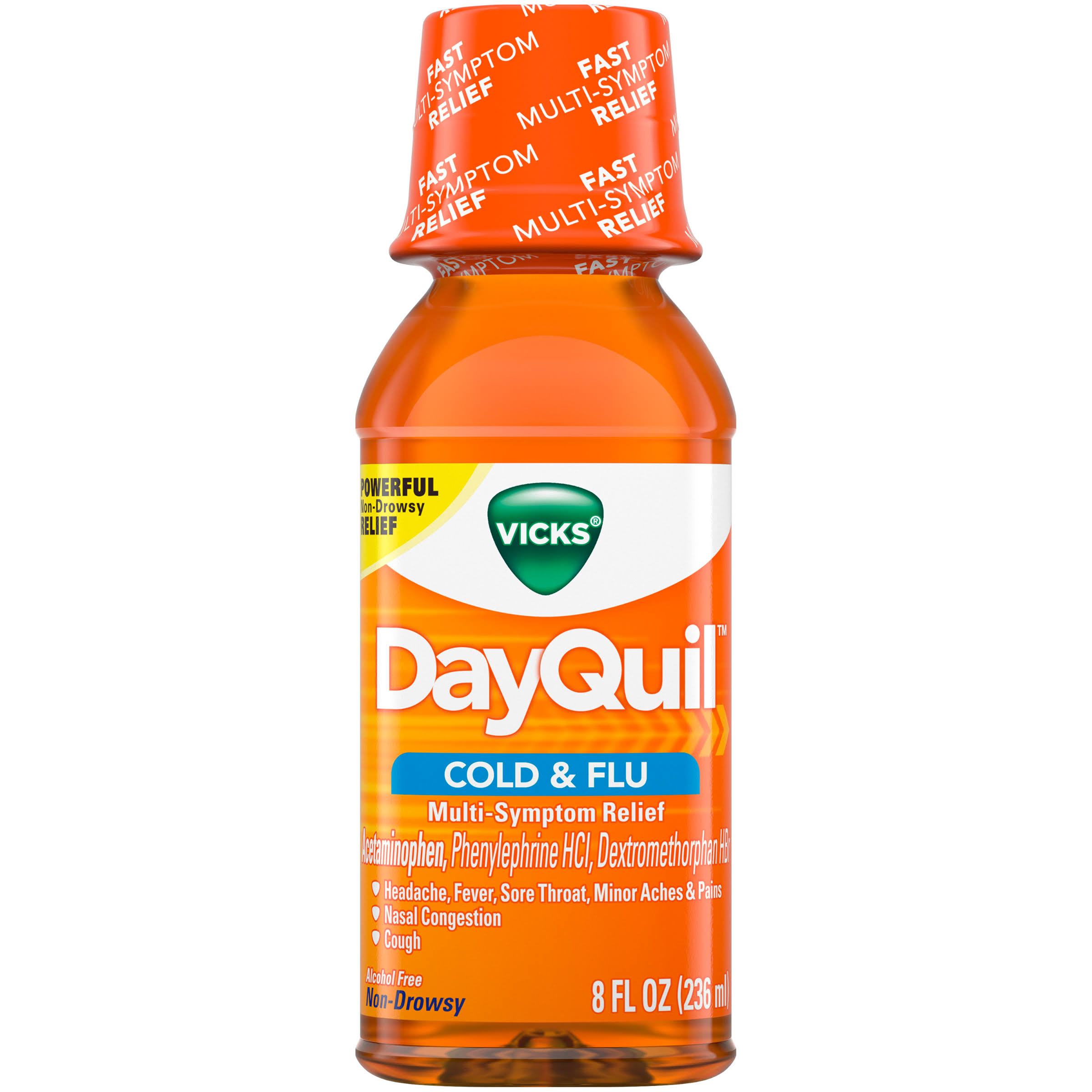 Vicks DayQuil Cold and Flu Relief Original Flavor Liquid