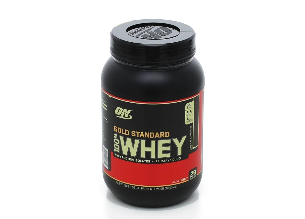 Optimum Nutrition Gold Standard Whey Supplement - Double Rich Chocolate, 908g