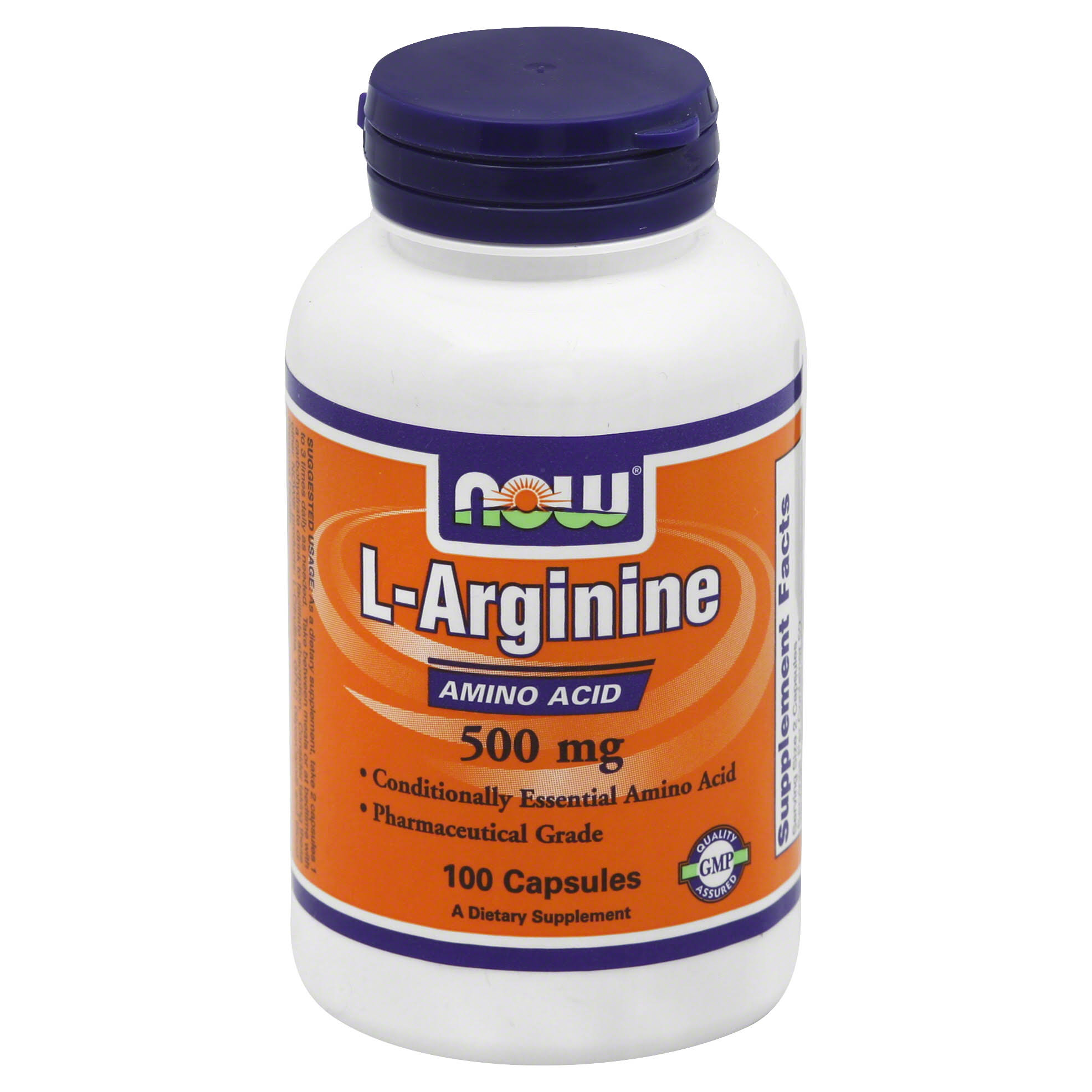 NOW Foods L-Arginine Supplement - 100 Capsules