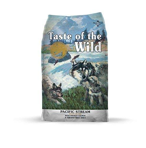 Taste Of The Wild Grain-Free Dry Dog Food - Pacific Stream Puppy Formula with Smoked Salmon, 30lbs