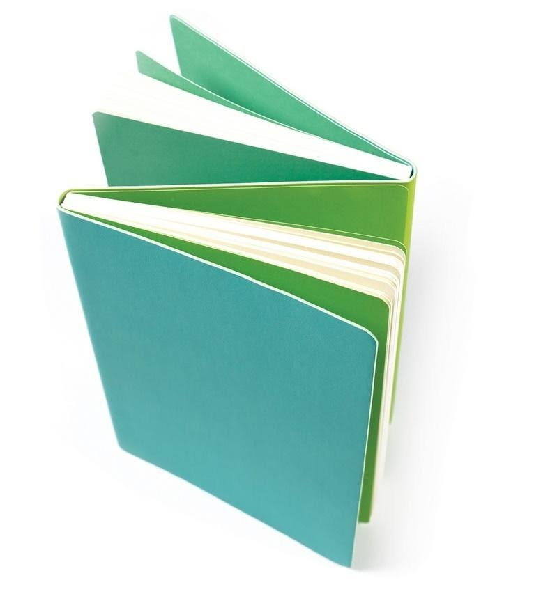 Flipside Double Sided Notebook - Teal