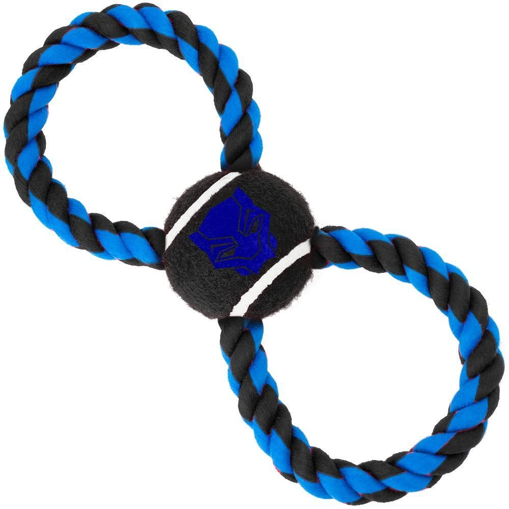 Buckle-Down Black Panther Pet Rope Ball