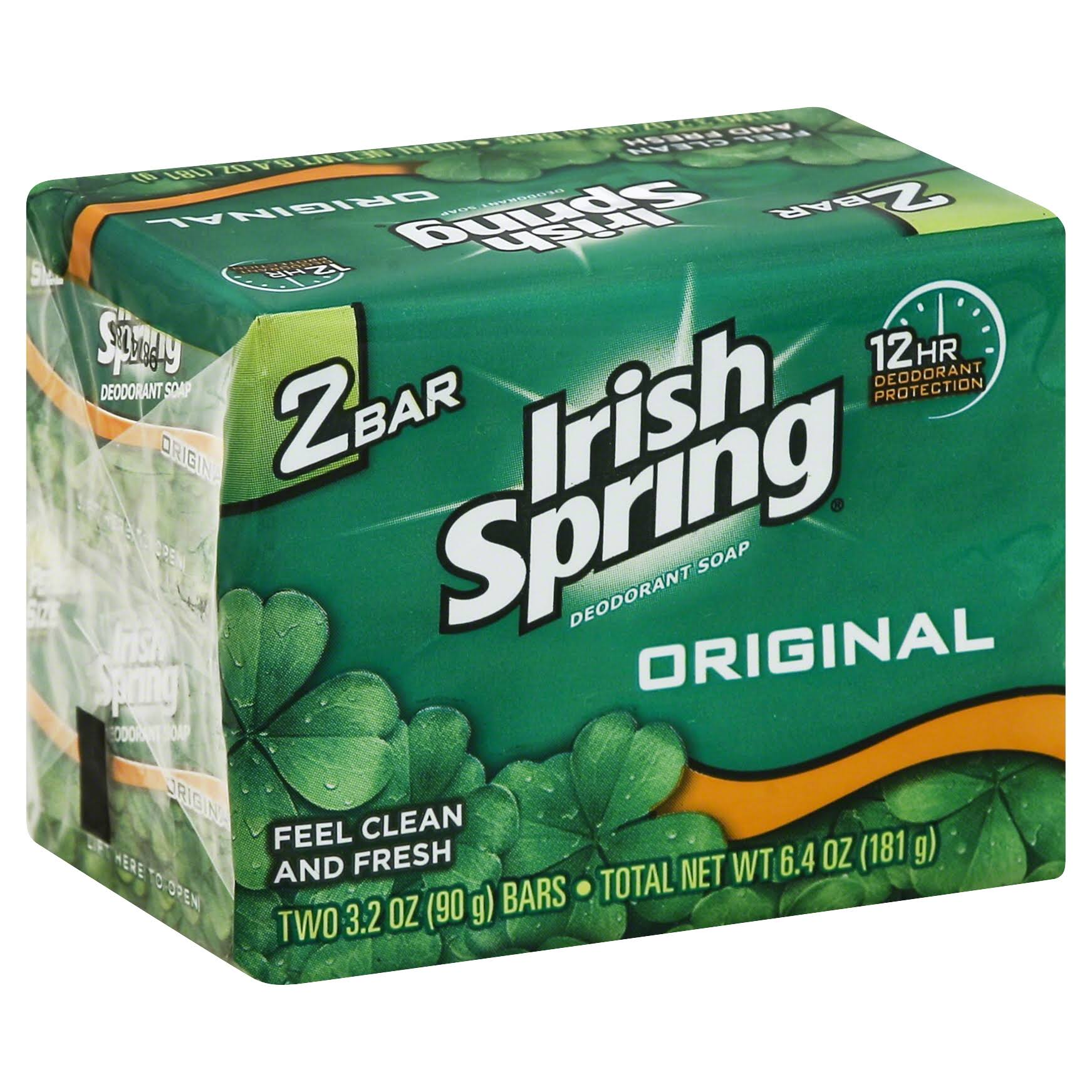 Irish Spring Original Deodorant Soap - 2 x 3.2 oz