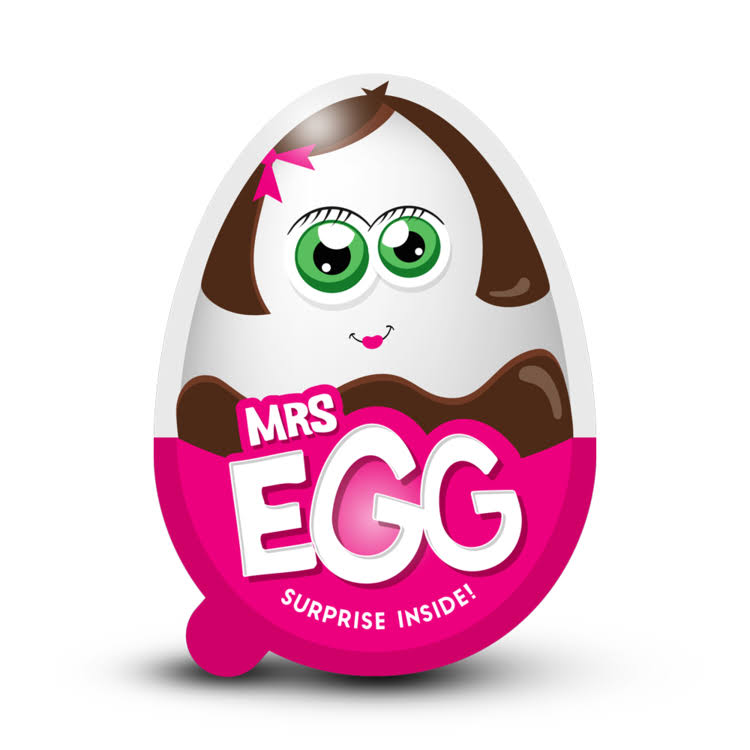 Ur Treats Mrs Egg 18g - Chocolate Egg and Surprise Toy Pack 6