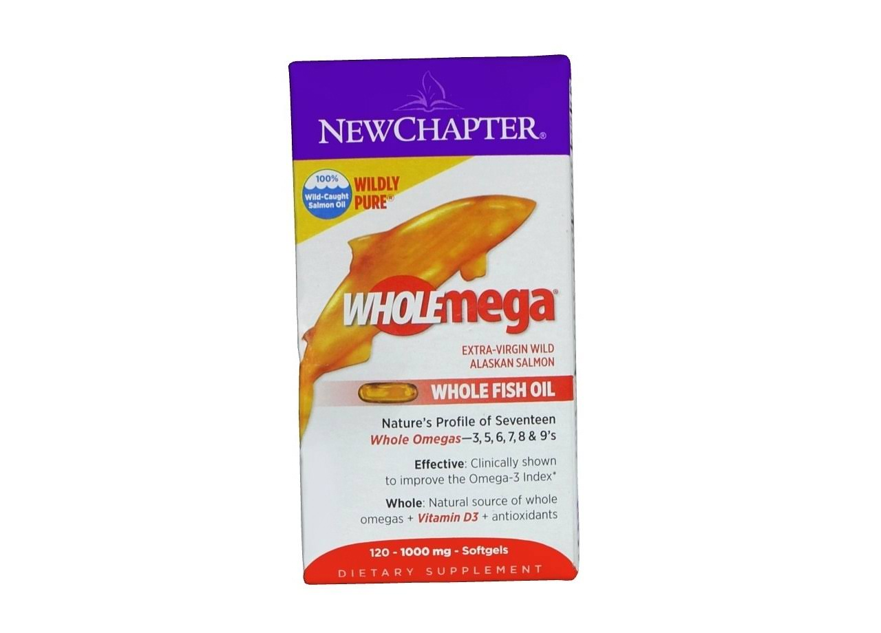 New Chapter Wholemega Whole Fish Oil - 120 softgels