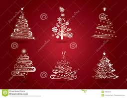 Kinds Of Christmas Trees by Christmas Tree Set Stock Photos Image 36059303