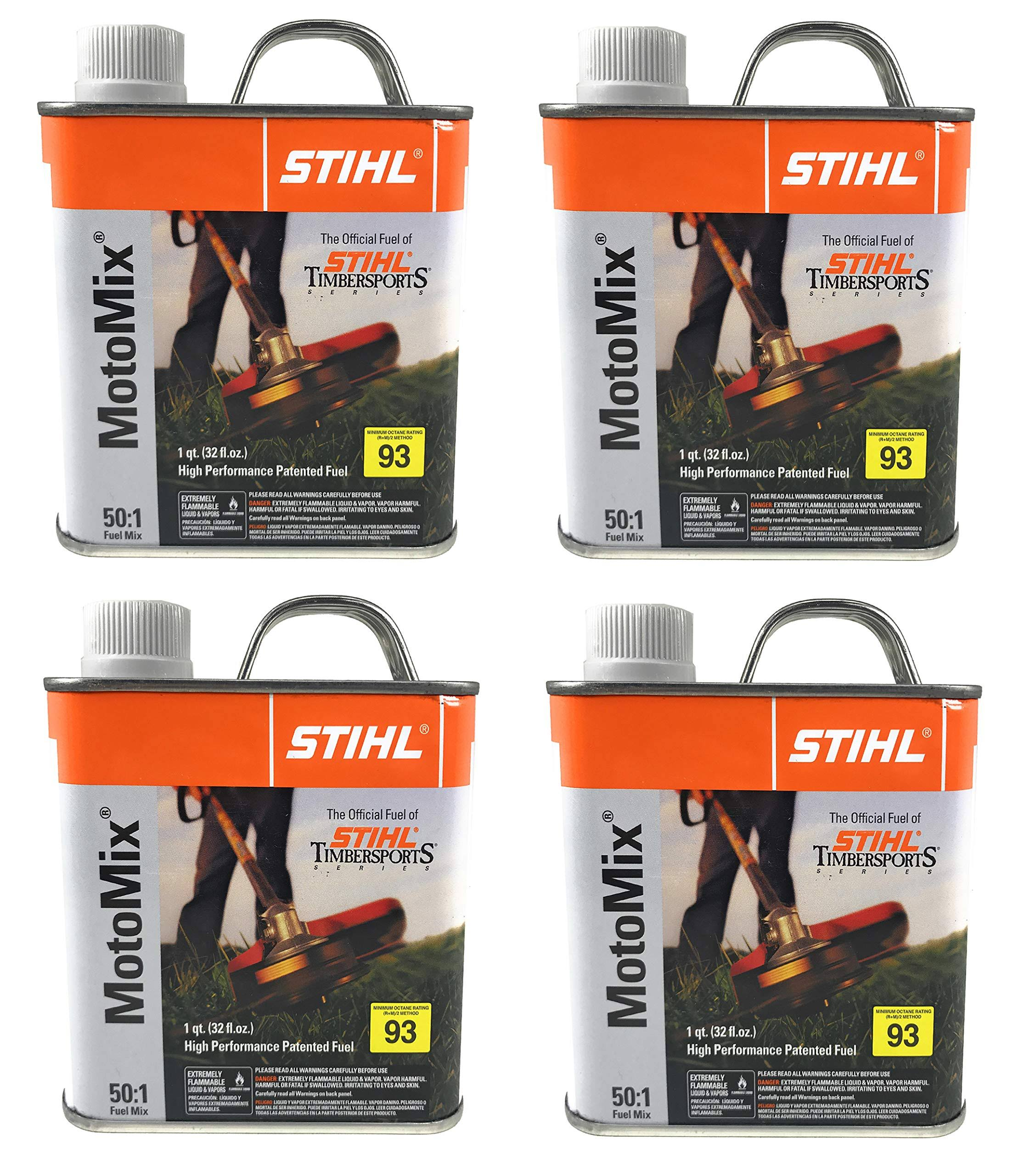Stihl 7010 871 0203 Motomix 50:1 2 Cycle Premix Fuel, Pack of 4