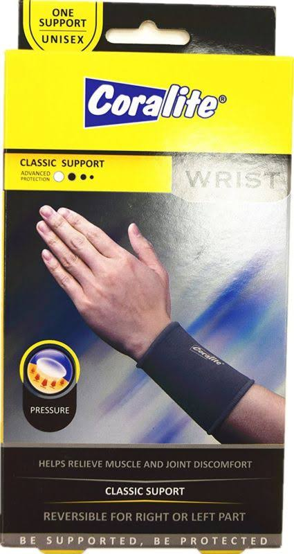 Coralite Left and Right Wrist Classic Support - Black