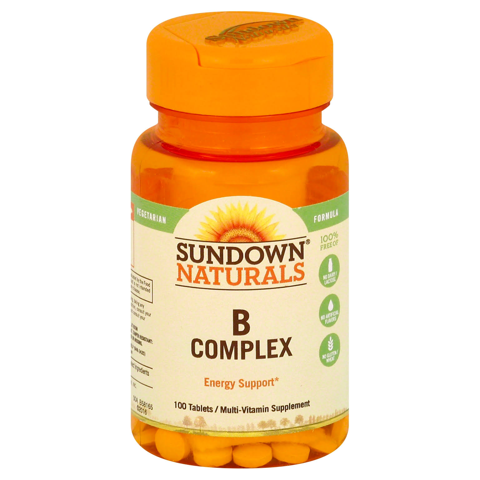 Sundown Naturals B Complex Dietary Supplement - 100ct