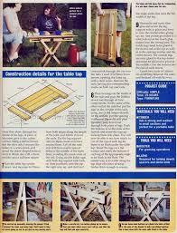 the 25 best folding picnic table plans ideas on pinterest