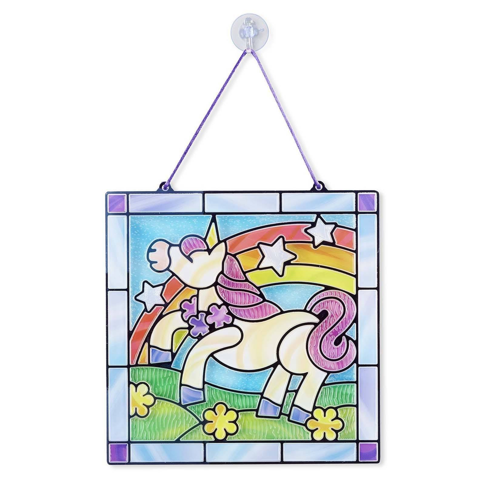 Melissa And Doug Unicorn Stained Glass Kit