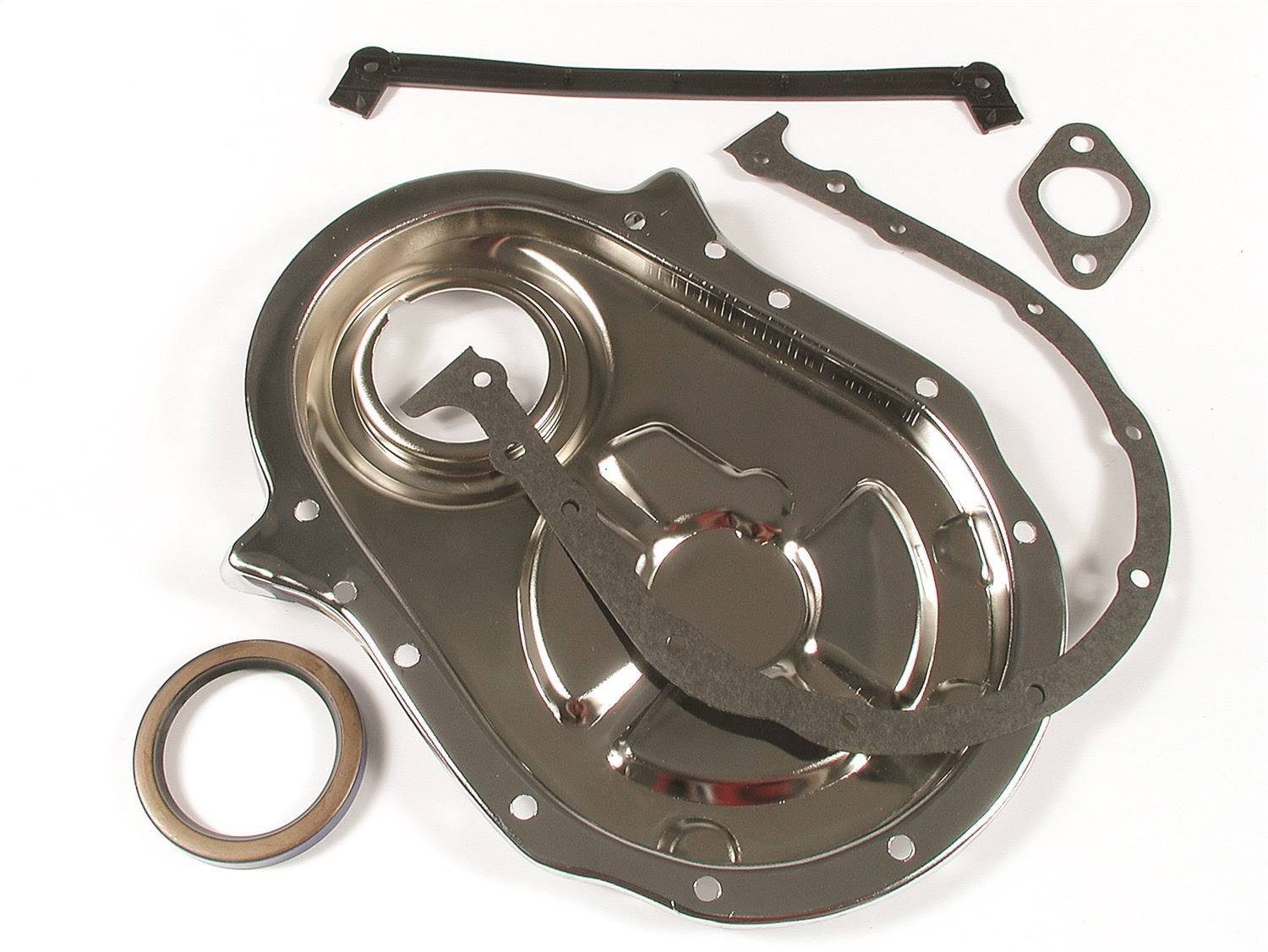 Mr Gasket 4591 Plated Timing Cover - Chrome