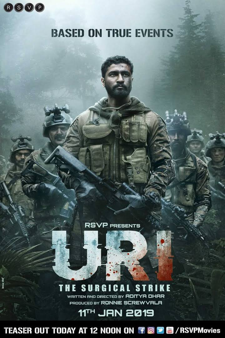 Uri: The Surgical Strike 2019 Full Movie Download 1GB Pre-DVDRip 720p | G-Drive Link | Watch Online