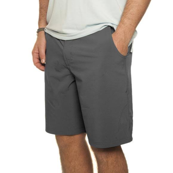 "Free Fly Men's Bamboo-Lined Hybrid Shorts | Roanline 9.5"" / Charcoal / 34"