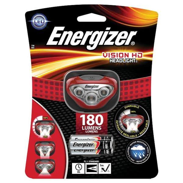 nergizer Vision HD Headlight - 150 lumens