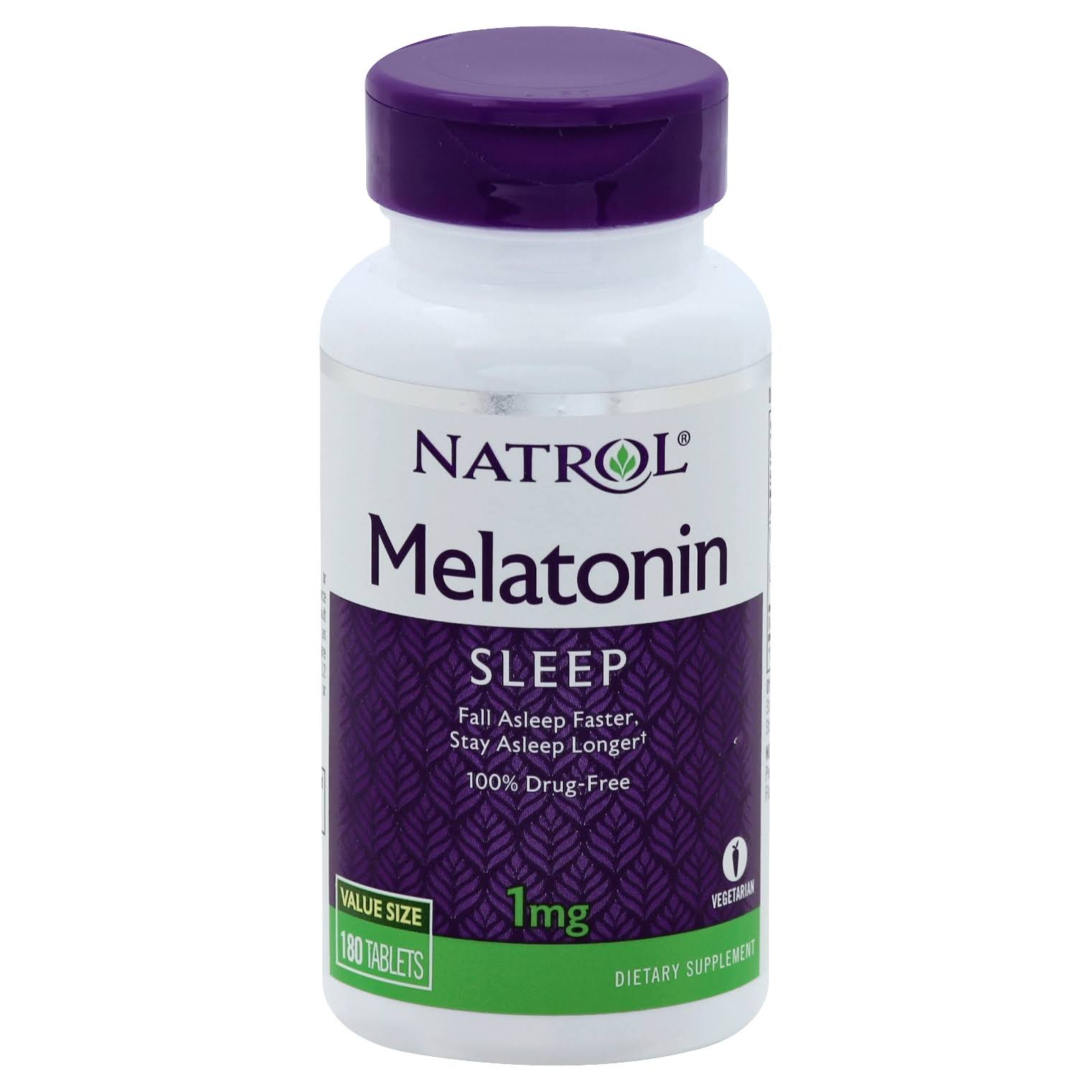 Natrol Night Time Sleep Aid Melatonin Supplements - 1mg, 180ct
