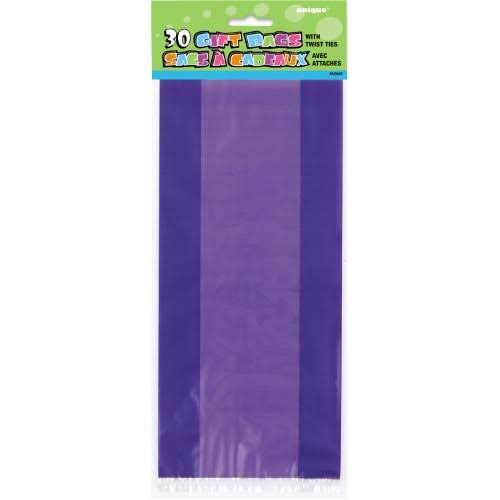 Unique Cello Party Favor Bags - 30ct, Purple