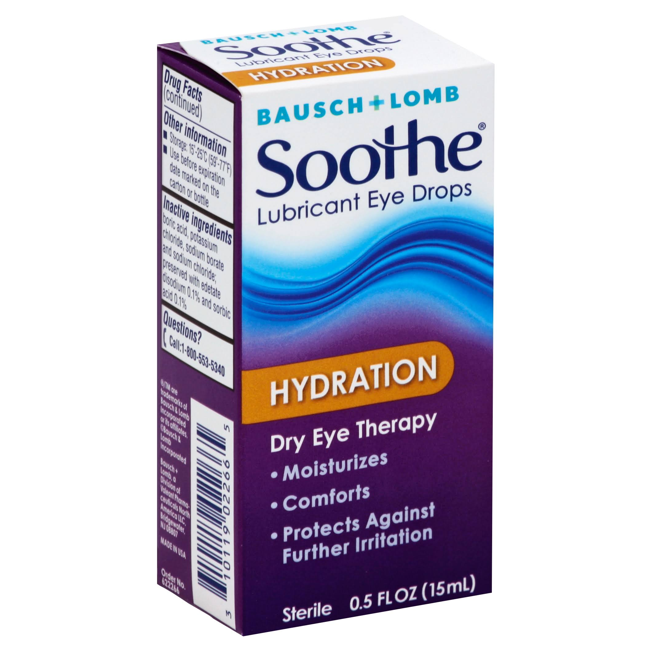 Soothe Lubricant Eye Drops - Hydration, 0.5oz