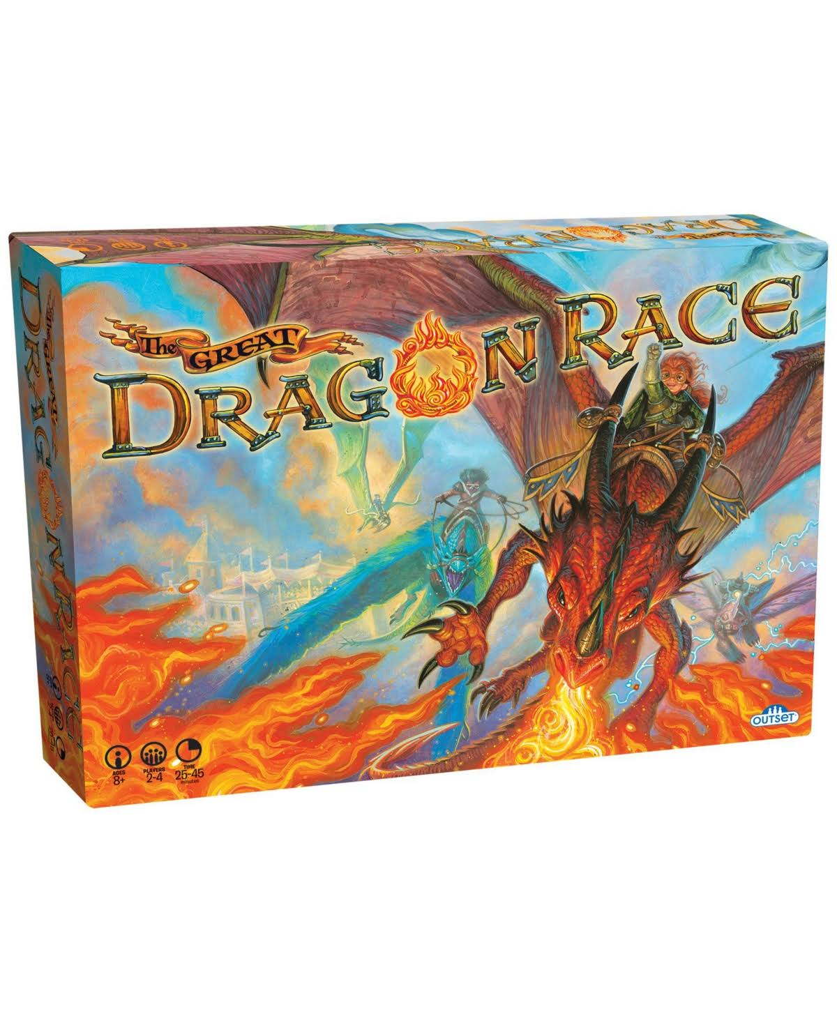 Outset Media Cobble Hill Fantasy The Great Dragon Race Board Game