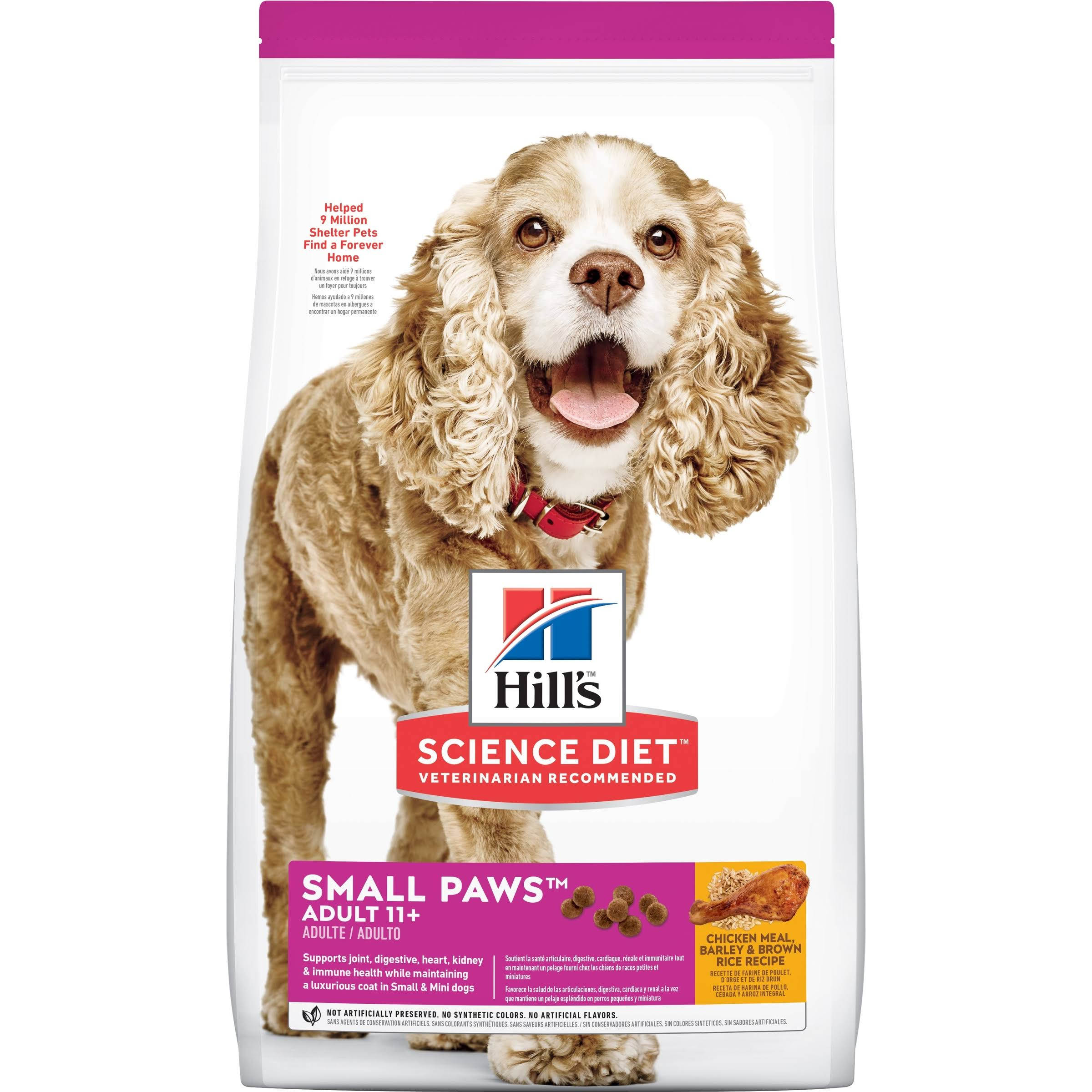 Hill's Science Diet Chicken Meal Premium Natural Dog Food - Rice and Barley Recipe, 4.5lbs
