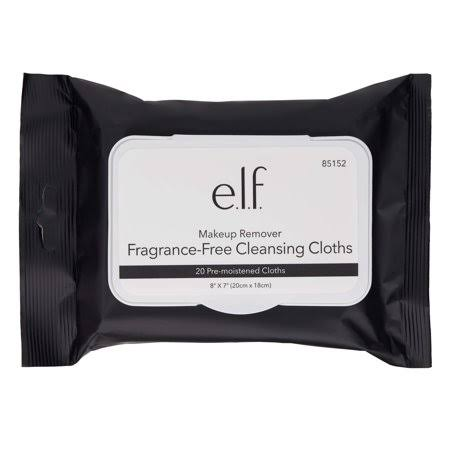 E. l. f. Fragrance Free Cleansing Cloths - 20ct